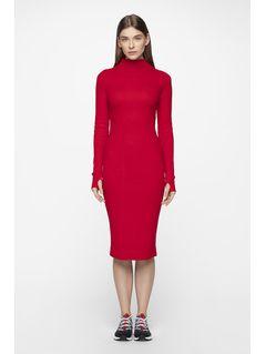 a982b8ff9b Długa sukienka z półgolfem SUDD701 - głęboka czerń