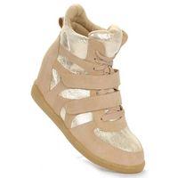 73c2c148 Dodaj do porównania · Trampki na koturnie Sneakersy BEŻOWE /D9-3 1284 S324/