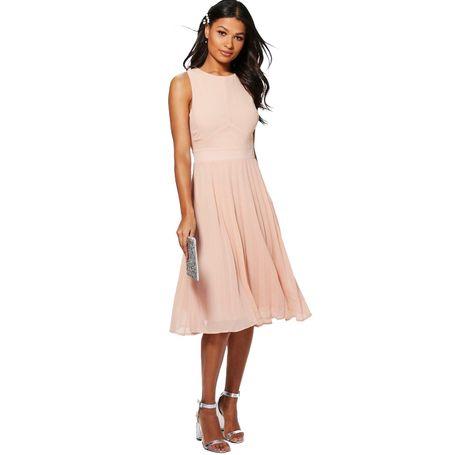 9a676fe69080 Kiki Šifónové růžové midi šaty ...